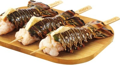 ROCK LOBSTER TAIL SKEWER WITH BUTTER