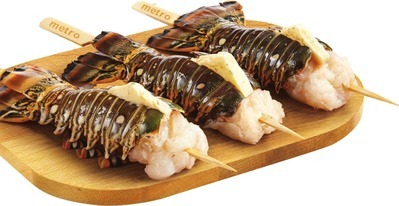 ROCK LOBSTER TAIL SKEWERS WITH BUTTER