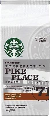 STARBUCKS, MAXWELL HOUSE OR TIM HORTONS GROUND COFFEE