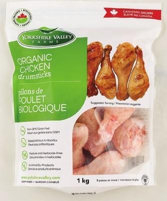 YORKSHIRE VALLEY FARMS ORGANIC CHICKEN DRUMSTICKS