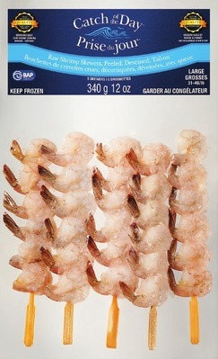 HIGHLINER CATCH OF THE DAY RAW SHRIMP SKEWERS