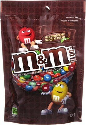 MARS M&M'S CHOCOLATE BAGS