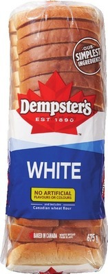 DEMPSTER'S WHITE OR WHOLE WHEAT BREAD, HOT DOG, HAMBURGER BUNS OR BAGELS