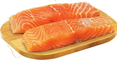 FRESH CANADIAN SALMON OR SKINLESS ICELANDIC COD PORTIONS