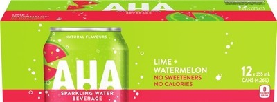 BUBLY, AHA OR MONTELLIER SPARKLING WATER