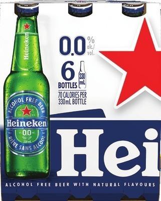 MOLSON OR HEINEKEN NON-ALCOHOLIC BEER