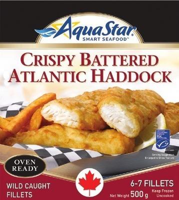 AQUA STAR BREADED OR BATTERED FISH OR WATERVIEW MARKET SHRIMP & SAUCE