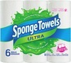 Sponge Towels Choose-A-Size Paper Towels 6-Roll