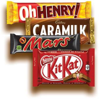 FRIANDISES CHOCOLATÉES NESTLÉ, MARS, CADBURY, HERSHEY'S | NESTLÉ, MARS, CADBURY, HERSHEY'S CHOCOLATE TREATS
