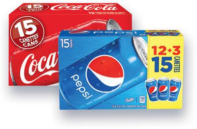 PEPSI, PEPSI DIÈTE, 7-UP, 7-UP DIÈTE, COKE, COKE DIÈTE, SPRITE, CANADA DRY | SOFT DRINK