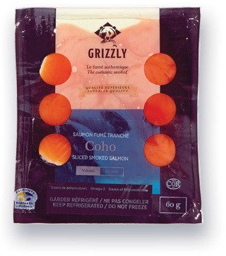SAUMON COHO FUMÉ GRIZZLY | GRIZZLY SMOKED COHO SALMON