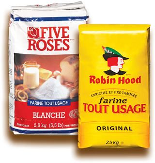 FARINE TOUT USAGE ROBIN HOOD, FIVE ROSES | ROBIN HOOD, FIVE ROSES ALL PURPOSE FLOUR