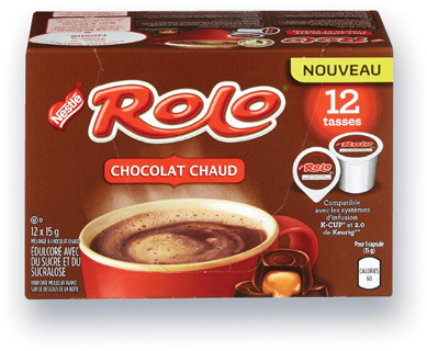 CAPSULES DE CHOCOLAT CHAUD CARNATION, ROLO | CARNATION, ROLO COFFEE CAPSULES