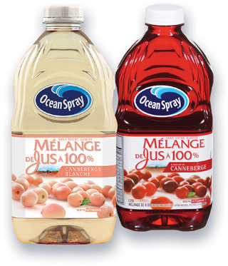 COCKTAIL OU JUS DE CANNEBERGE OCEAN SPRAY | OCEAN SPRAY CRANBERRY COCKTAIL OR JUICE