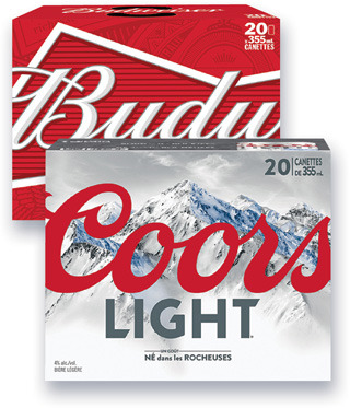 BIÈRE MOLSON COORS LIGHT, EXPORT, CANADIAN, LABATT BUDWEISER, BUD LIGHT, BLEUE, SLEEMAN LIGHT, SLEEMAN ORIGINAL DRAUGHT │ BEER