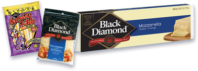 FROMAGE RÂPÉ BLACK DIAMOND | BLACK DIAMOND SHREDDED CHEESE, CHEESE STICKS, FICELLO CHEESE STICKS