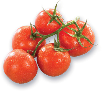 TOMATES ROUGES EN GRAPPE | RED STEMMED TOMATOES