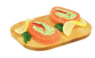 Fresh Salmon Pinwheels