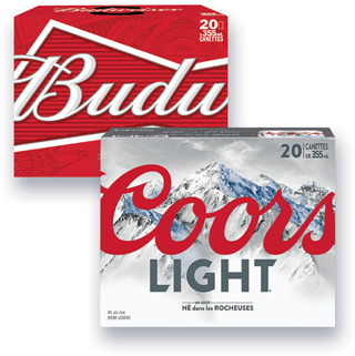 BIÈRE MOLSON COORS LIGHT, DRY, CANADIAN, LABATT BUDWEISER, BUD LIGHT, BLEUE, SLEEMAN LIGHT, ORIGINAL DRAUGHT | BEER