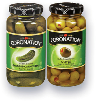 OLIVES CORONATION | CORONATION OLIVES, GHERKINS, ONIONS