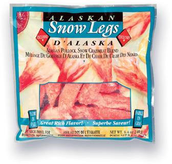 MÉLANGE DE GOBERGE - CHAIR DE CRABE SNOW LEGS D'ALASKA | ALASKAN SNOW LEGS POLLOCK-SNOW CRAB MEAT MIX
