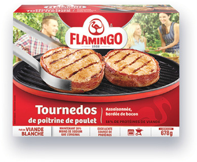 TOURNEDOS DE POITRINE DE POULET FLAMINGO | FLAMINGO CHICKEN BREAST TOURNEDOS