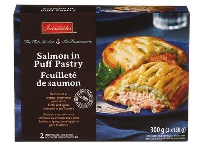 FEUILLETÉ DE SAUMON ATLANTIQUE IRRESISTIBLES | IRRESISTIBLES SALMON IN PUFF PASTRY