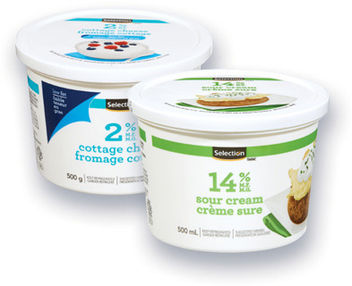 CRÈME SURE SELECTION | SELECTION SOUR CREAM OR COTTAGE CHEESE