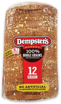Wonder Bread or Dempster's Whole Grain Bread or Hot Dog or Hamburger Buns