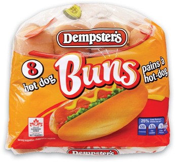 Wonder Bread or Dempster's Whole Grain Bread or Hot Dog or Hamburger