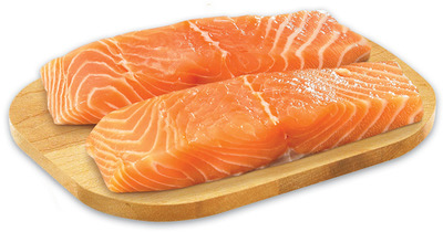 Fresh Skinless Atlantic Salmon Portions or Rock Lobster Tail