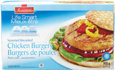 IRRESISTIBLES LIFE SMART CHICKEN BURGERS
