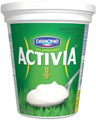 ACTIVIA OR OIKOS YOGURT