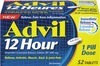 Advil 12 Hour 52's, Convenience Pack 36's, Extra or Regular Strength Liqui-Gels or Caplets 40's-72's