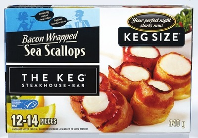 THE KEG BACON WRAPPED SCALLOPS
