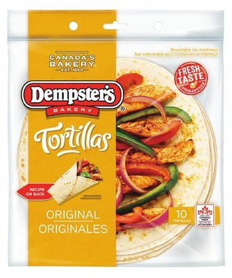 """DEMPSTER'S 10"""" TORTILLAS"""