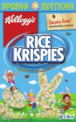 KELLOGG'S SPRING RICE KRISPIES CEREAL