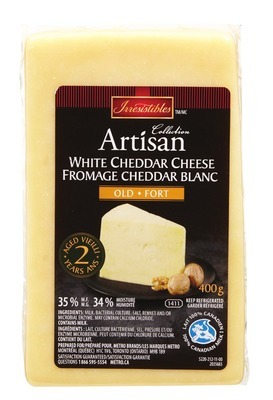 IRRESISTIBLES ARTISAN 2 YEAR AGED WHITE CHEDDAR CHEESE