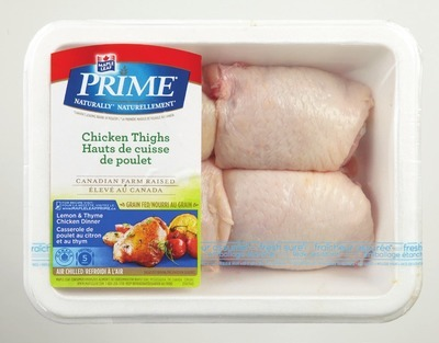 MAPLE LEAF PRIME FRESH CHICKEN DRUMSTICKS OR THIGHS