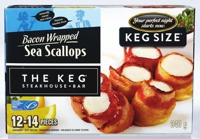 THE KEG BACON WRAPPED SEA SCALLOPS