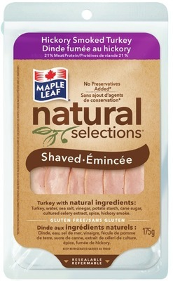 MAPLE LEAF NATURAL SELECTIONS SLICED MEATS