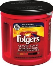 Folgers K-cups 12-pack or Ground Coffee 920g Tim Hortons Ground Coffee 300g or Tassimo Discs