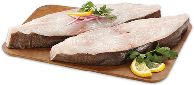 FRESH WILD PACIFIC HALIBUT STEAKS