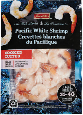 IRRESISTIBLES PACIFIC WHITE COOKED SHRIMP