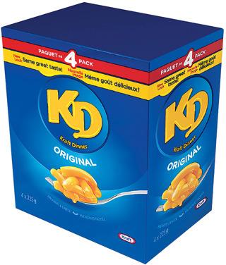KRAFT DINNER 4 X 225 g or HEINZ KETCHUP