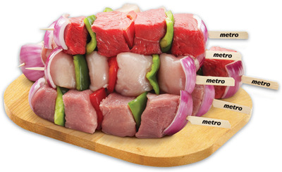 Bacon Wrapped Chicken or Turkey Medallions or Fresh Store Made Meat Kabobs