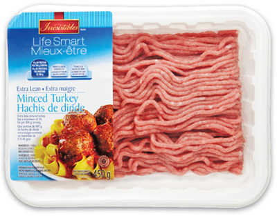 IRRESISTIBLES LIFE SMART EXTRA LEAN MINCED TURKEY OR GROUND CHICKEN