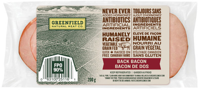 GREENFIELD BACK BACON, WIENERS OR SMOKED SAUSAGES