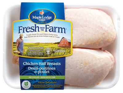 MAPLE LODGE FRESH FROM THE FARM FRESH SPLIT CHICKEN BREAST