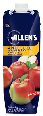 ALLEN'S JUICES OR COCKTAILS